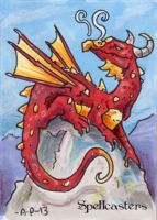 Spellcasters Sketch Card - Amy Pronovost 2 by Pernastudios