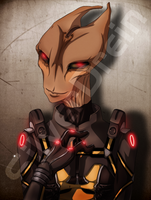Salarian_S'Carr by SilverDrein