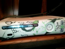 boredom-My xbox 360 faceplate--painted by shinigami-of-death02