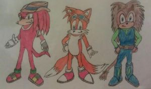 Freedom Fighters - Knuckles, Tails, Cyrus by A5L