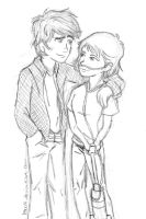 Augustus and Hazel by lauu7