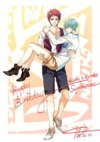 KnB - AkaKuro - Happy Birthday! Sugarchocolove! by saru-chikin