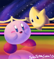 Kirby and Luma by TerraTerraCotta