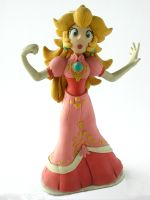 Clay Princess Peach by FlintofMother3