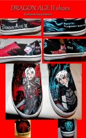 My Dragon Age shoes made by me :) by mandykat