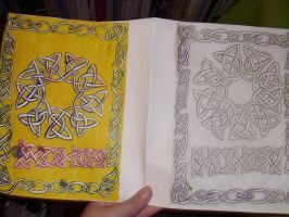 Celtic Knotwork Card by Kiyokomachiko