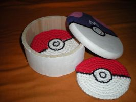 Pokeball Coaster set by JulianaK