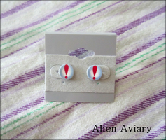 Animal Crossing Pitfall Seed Earrings by alienaviary