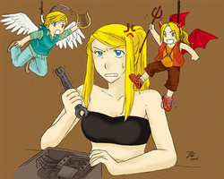 FMA: Shoulder A+D -color- by zulenha