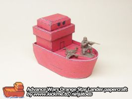 papercraft Advance Wars Lander returning fire! by ninjatoespapercraft