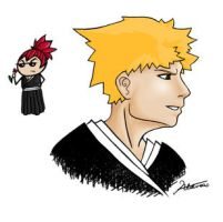 Bleach - Ichigo - and Renji.. by Aldrea