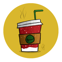 Strawed Hot Coffee by chompet123