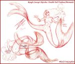 2 Tails Undine Sketches 03 by BlackUniGryphon