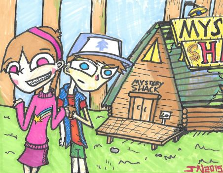 Dipper and Mabel by JosiahNugent