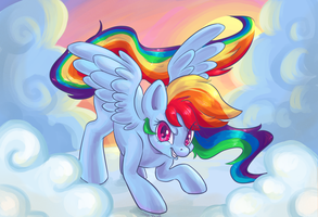 Dashing through the sky by Corelle-Vairel