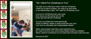 All I Want For Christmas Is U by VisualPoetress