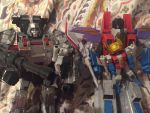 Starscream and Megatron with Twins! by MetallicGirl