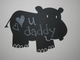 Hippo Chalkboard Wall Decal by WilsonGraphics