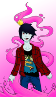 Marshall Lee - Liquid Bubblegum by DevineEnigma18