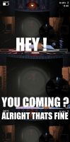 HEY YOU COMING? Old Foxy meme by rons13