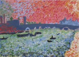 My copy of 'Charing Cross Bridge' by Andre Derain by MaxMJohnson