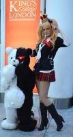 Junko and Monobear by JustPeachyCosplay