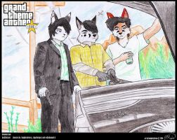 GTA V Fan Art(OC Edition) - Trunk Trio by humphreylevine2014