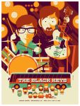 black keys: denver: gig poster by strongstuff
