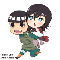 :commission: Rocklee and Ameni by malengil