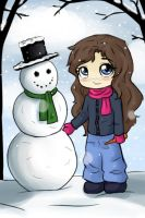 Krade and her Snowman by Birdie121