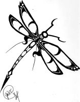 Dragonfly Tribal Tattoo by hsien-lung