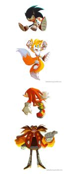 Sonic Doodles by BettyKwong