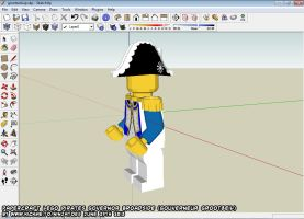 Papercraft LEGO Pirates Governor Broadside WIP 2 by ninjatoespapercraft