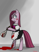 Pinkamena: Bloody Maid by norang94