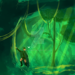 Saria's Lost Woods WIP by Keikilani