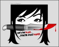 She's the blade... by KariNeko