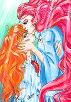 Granmamare and Fujimoto - Ponyo's Parents by Ebsie