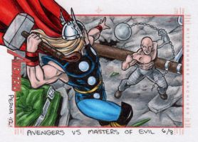 Thor vs Absorbing Man - MGH by tonyperna