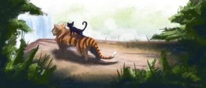 Cat and Tiger, Journey's End by ElDangerrible