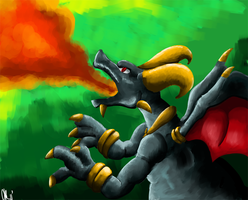 Demonic Charizard by Phatmon