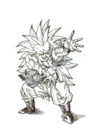 SSJ3 Gotenks by bloodsplach