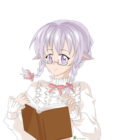 Commission - Book lover by LadyMid0ri