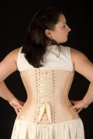 Peaches n cream flossed corset by Cuddlyparrot