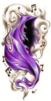 music phantom tattoo design by koanodan