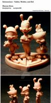 Animaniacs - Yakko, Wakko and Dot by sculptor101