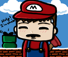 What The ...  MARIO by pluto-san