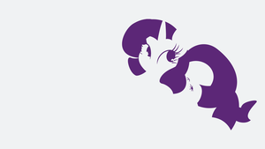My Minimal Pony: Rarity by UtterlyLudicrous