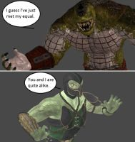 Injustice: Killer Croc vs Reptile by xXTrettaXx