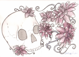 Of Dahlias and a Skull by BethanyLarson