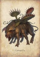 Paizo monster - Sythnigot Pig by DevBurmak